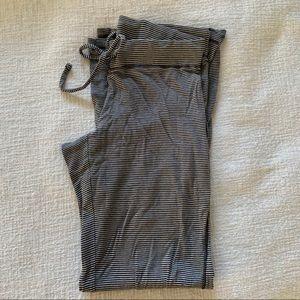 PINK Black & White Striped Lounge Pants. Size M